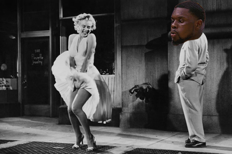 Lance blowing Marilyn Monroe's skirt up
